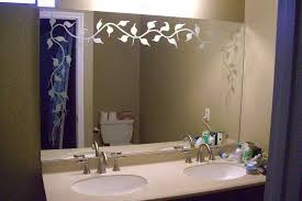 how to etch your glass bathroom mirror