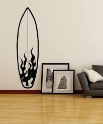Vinyl Wall Decal Sticker Fire Surfboard Os Aa1238 Stickerbrand