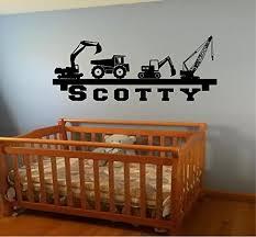 Flash Sale Boy S Room Wall Shelf Name Construction Crane Dump Truck Equipment Diy Wall Art Decor Decal Our Popular Design Decal Wish