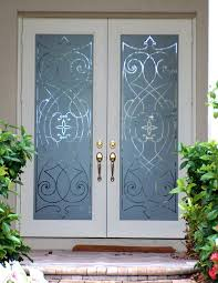 glass etching used for glass doors