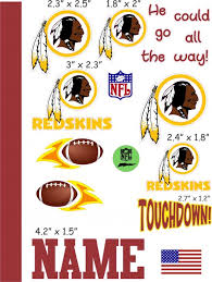 Washington Redskins Cranial Band Decoration From High Quality Vinyl