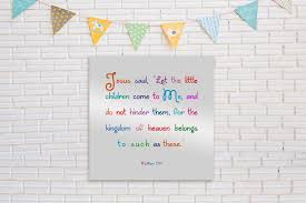 Matthew 19 14 Christian Decor For Kids Honeycomb Proverbs