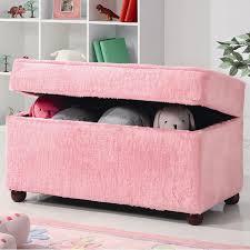 Pink Kids Storage Bench Coaster Furniture Furniture Cart