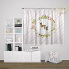 Woodland Decor Woodland Curtain Kids Room Decor Forest Animals Window Curtains 431 Eloquent Innovations