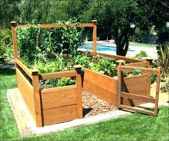 garden landscape patio raised cedar bed