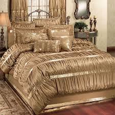 faux silk dark gold comforter bedding