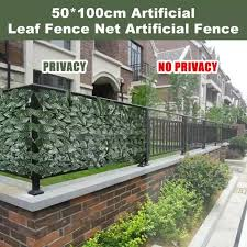 50x100cm Garden Fence Panel Artificial Ivy Leaf Hedge Privacy Screen Plant Uv Protection Lazada Ph