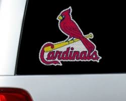 St Louis Cardinals Decals St Louis Cardinals Window Graphics St Louis Cardinals Mlb Logo Cutz One Way Glass Covering By Glass Tatz
