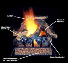procom vented fireplace natural gas log