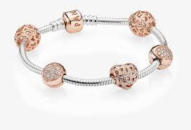 clip charm pandora rose gold bracelet
