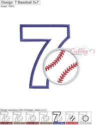 Diseno De Applique De Beisbol Diseno De Bordado De Etsy