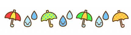 梅雨の傘と雨粒ラインのイラスト | 無料イラスト素材|素材ラボ