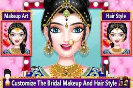 indian bridal makeup and hairstyle games