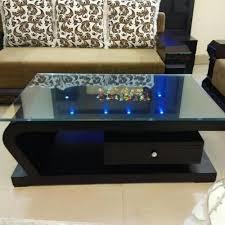 glass top rectangular brown wooden