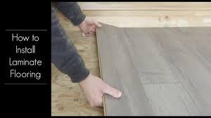 install golden select laminate flooring
