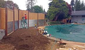 South Olympia Poolside Transformation Ajb Landscaping Fence