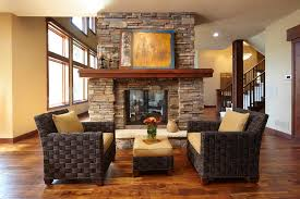 pleasant hearth in living room