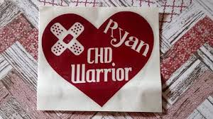 Chd Warrior Personalized Car Vinyl Decal Sticker Congenital Heart Defect Car Decals Vinyl Vinyl Decals Vinyl Decal Stickers