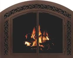 w d metalcraft glass fireplace doors