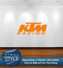 Ktm Racing Logo Decal Decor Sticker Wall Art Graphic Various Colour