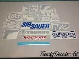 Gun Decals Gun Stickers Set Of 15 Decals Gun Brand Decals Etsy
