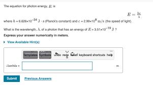 photon energy e is e hc x