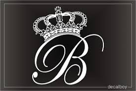 Crown B Queen Decal
