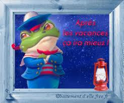 gif animé vacances été une grenouille vêtue en habit de marin ...