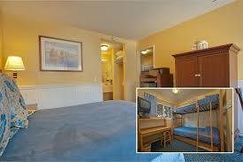 Two Room Family Suite Main Room Single Queen Kids Room Twin Bunk Bed Wall Heater Portable F Picture Of Monterey Bay Lodge Tripadvisor