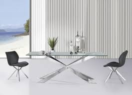 the glass dining table and 2 chairs