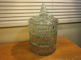 stacking indiana glass apothecary jars