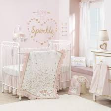 Confetti Pink Gold Hearts And Arrows Nursery Wall Decals Appliques