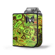 Skin Decal Vinyl Wrap For Sv Mi Pod Kit Vape Skins Stickers Cover Green Glass Trippy Psychedelic Itsaskin Com