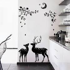 Black Dark Elk Silhouette Tree Life Decorative Kids Wall Stickers Living Room Decorative Sticker Wall Decal Mural Wallpaper Art Sticker Wall Decal Wall Decalskids Wall Aliexpress