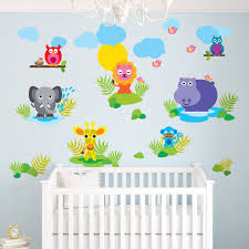 French Bull Jungle Wall Decal Walldecals Com