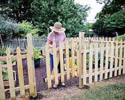 How To Build A Picket Fence Garden Gate Hgtv