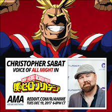 Don't miss the voice of All Might - Christopher Sabat for his AMA ...