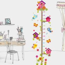 Diy Kids Growth Height Measuring Chart Tox Child Height Wall Sticker Removable Wall Decal Multicolor Room Decoration For Kids Nursery Bedroom Living Room Growth Charts