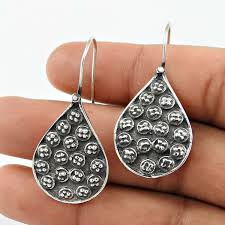 925 sterling silver oxidised jewellery
