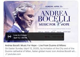 LIVE!! Andrea Bocelli: Music For Hope - Live From Duomo di Milano ...