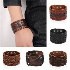 mens vintage viking genuine leather