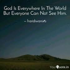 god is everywhere in the quotes writings by saloni aanand