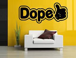 Amazon Com Wall Room Decor Art Vinyl Sticker Mural Decal Hand Dope Thumbs Up Word Sign Logo Emblem As2587 Home Kitchen