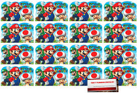 Amazon Com Super Mario Brothers 16 Invitaciones Postales