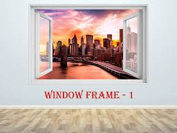 New York City Sticker 3d Window Decal New York Sticker New York Print New York Vinyl Skyscrapers Prints La Wall Stickers Home Decor Wall Stickers Home 3d Wall