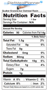 nutrition facts label snacks 11