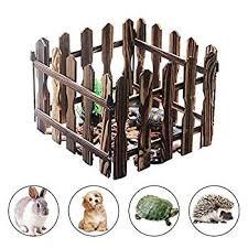 Urnanal Carbonized Wooden Pet Playpens Indoor Outdoor Use Pet Fence Freestanding Dog Gate Rabbit Tortoise Fence In 2020 Freestanding Dog Gate Pet Playpens Pet Fence