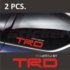 2pcs Pair Powe By Toyota Trd 2 Window Decal Sticker Emblem Car Sticker Logo Wish