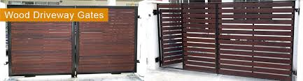 Wood Fences Driveway Gates