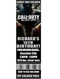 Call Of Duty Birthday Party Call Of Duty Mw3 Modern Warfare 3